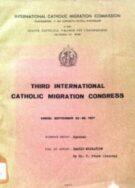 Third International Catholic Migration Congress - Family Migration