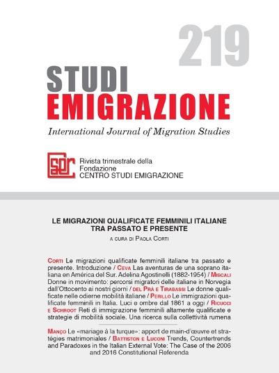 LE MIGRAZIONI QUALIFICATE FEMMINILI ITALIANE TRA PASSATO E PRESENTE