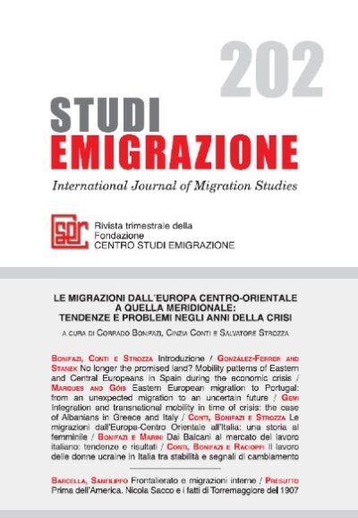 Le migrazioni dall'Europa centro-orientale a quella meridionale: tendenze e problemi negli anni della crisi