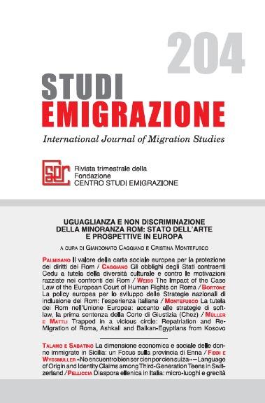Uguaglianza e non discriminazione della minoranza Rom: stato dell'arte e prospettive in Europa
